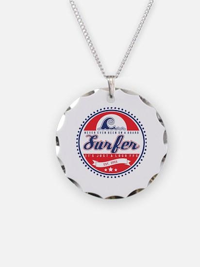 Vintage Surfer Logo Necklace