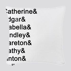 Wuthering Heights Names Woven Throw Pillow