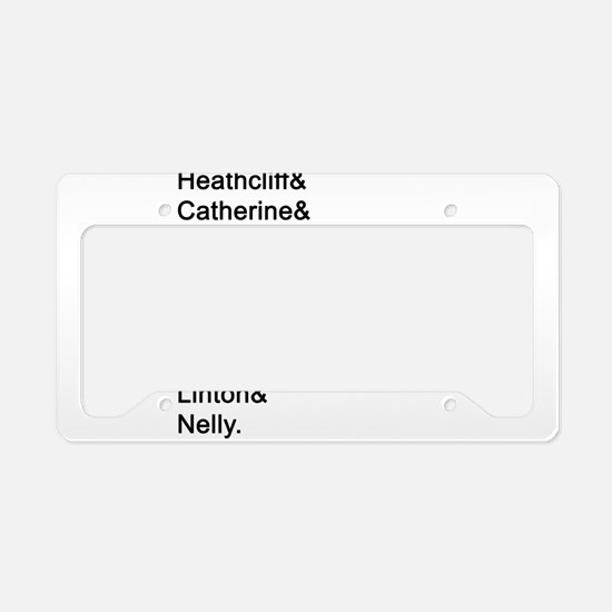 Wuthering Heights Names License Plate Holder
