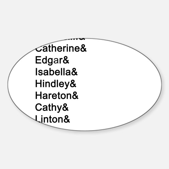 Wuthering Heights Names Decal