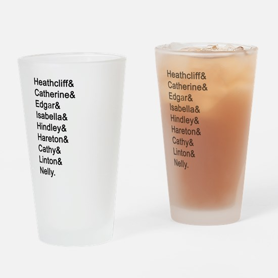 Wuthering Heights Names Drinking Glass