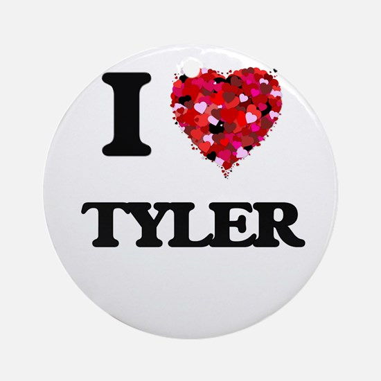 I Love Tyler Ornament (Round)