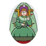Celtic Princess Oval Ornament