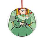 Celtic Princess Round Ornament