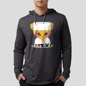 sushi chef cat Mens Hooded Shirt