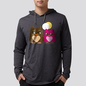 owl-couple2 Mens Hooded Shirt