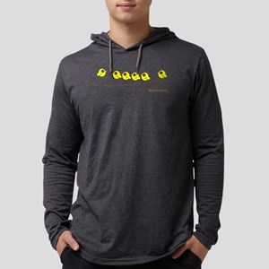 bird on a line-shape Mens Hooded Shirt