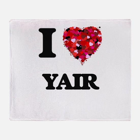 I Love Yair Throw Blanket