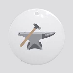 Anvil & Hammer Ornament (Round)