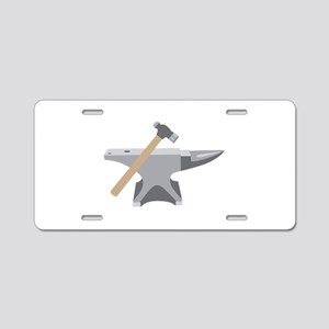 Anvil & Hammer Aluminum License Plate