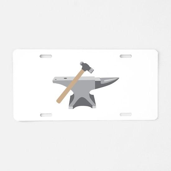 Anvil & Hammer Aluminum License Plate