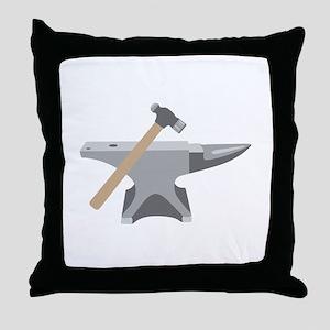 Anvil & Hammer Throw Pillow