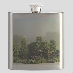 Garden in mist, Arzua,Spain Flask