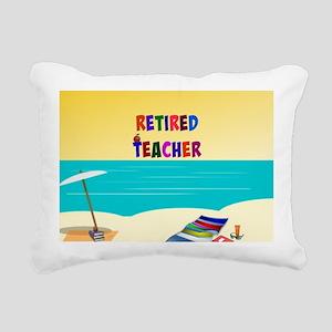 Retired Teacher...sun an Rectangular Canvas Pillow