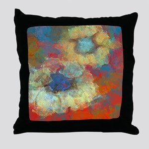 The Two Flowers Throw Pillow