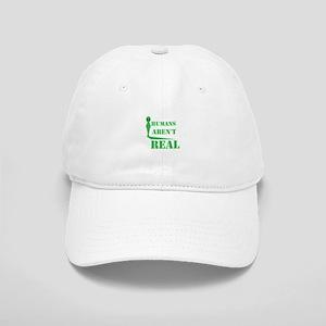 Alien T Shirt Humans Aren't Real Funny Birthda Cap