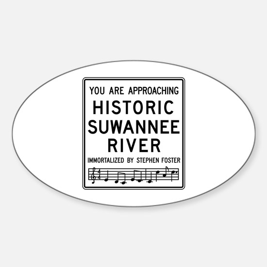 Historic Suwannee River, Florida Sticker (Oval)