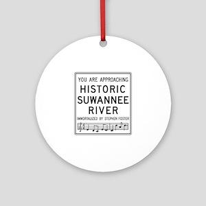 Historic Suwannee River, Florida Ornament (Round)