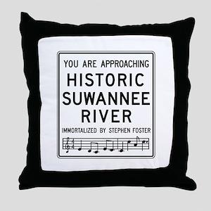 Historic Suwannee River, Florida Throw Pillow