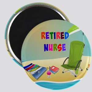 Retired Nurse, fun in the sun Magnet