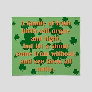 An Irish Family Throw Blanket