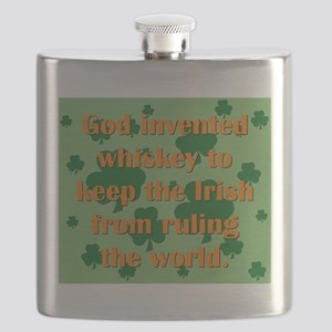 God Invented Whiskey Flask
