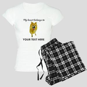 Personalized Pomeranian Women's Light Pajamas
