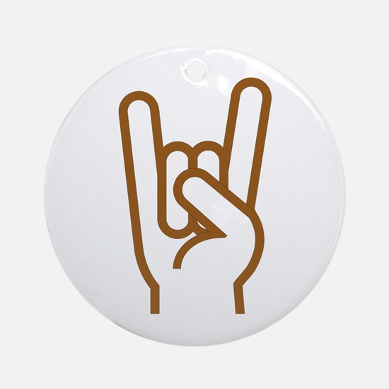 Metal Horns Round Ornament