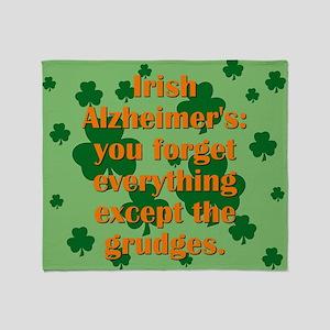 Irish Alzheimers Throw Blanket