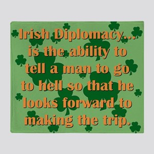 Irish Diplomacy Throw Blanket