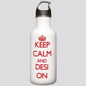 Keep Calm and Desi ON Stainless Water Bottle 1.0L