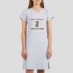 Personalized Puggle Women's Nightshirt
