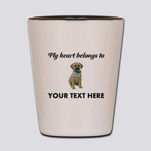Personalized Puggle Shot Glass