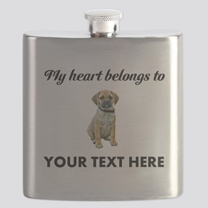 Personalized Puggle Flask