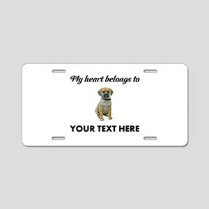Personalized Puggle Aluminum License Plate