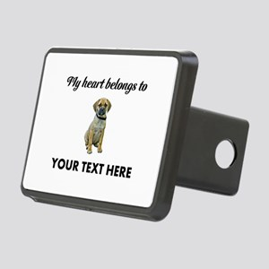 Personalized Puggle Rectangular Hitch Cover
