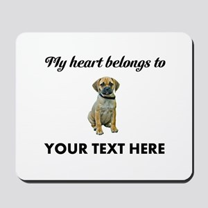 Personalized Puggle Mousepad