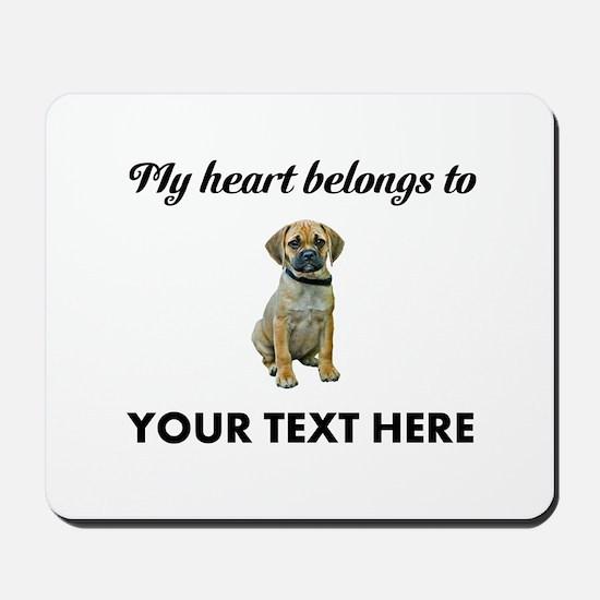 Personalized Puggle Mousepad