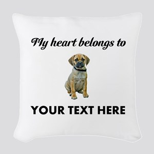 Personalized Puggle Woven Throw Pillow