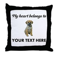 Personalized Puggle Throw Pillow