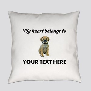 Personalized Puggle Everyday Pillow