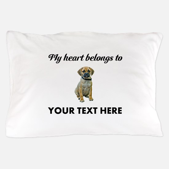 Personalized Puggle Pillow Case