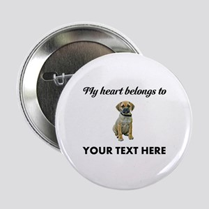 """Personalized Puggle 2.25"""" Button"""