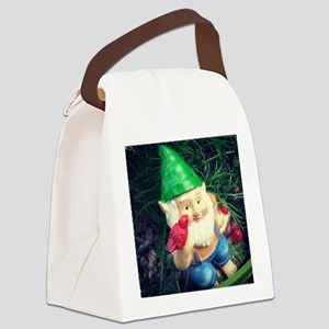 Gnome in the Chamomile Canvas Lunch Bag