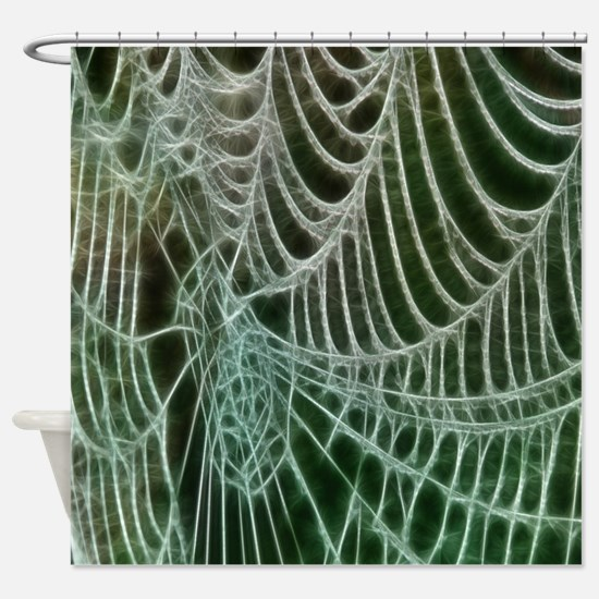 Spiders Web Shower Curtain