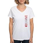 Danmark Women's V-Neck T-Shirt