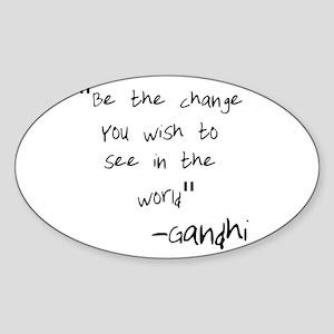 Be The Change Gandhi Sticker