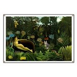 The cat in art painting Henri Rousseau Banner