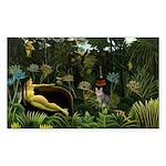 The cat in art painting Henri Rousseau Sticker