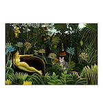 The cat in art painting Henri Rousseau Postcards (